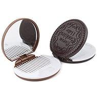 SANWOOD 1x Cute Cookie Shaped Design Mirror Makeup Comb