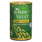 John West Tuna Chunks in Sunflower Oil 4 X 132g Cans at Home Bargains Instore