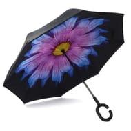 Double Layers Long Handle Folding Reverse Umbrella