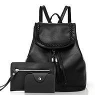 Women Backpack Shoulder Bag Wallet Card Holder Set