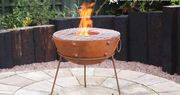 Win a Rustic Steel Fire Bowl and Poker