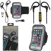 KitSound Race Wireless In-Ear Sports Headphones with Armband - Black