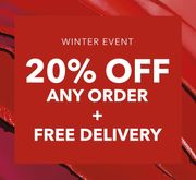 20% off Every Order + Free Delivery