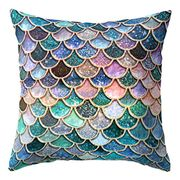 Nighteyes66 Mermaid Fish Scales Throw Pillow Case Bed Sofa Cushion Cover