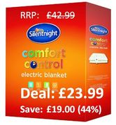 44% off at AMAZON Silentnight Electric Blanket - KING SIZE - save £19