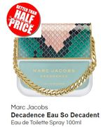 SAVE 54% Marc Jacobs Decadence Eau so Decadent EDT Spray 100ml - FREE DELIVERY