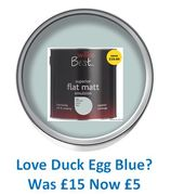 Do You Love DUCK EGG BLUE? Emulsion Paint Was £15 Now £5!