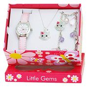 Ravel 'Little Gems' Kitten Watch and Silver Plated Jewellery Set Only £10.25