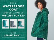 Buy a Waterproof Raincoat and Get a Pair of Wellies for £10
