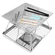 Portable Charcoal Grill Folding Stainless Steel BBQ