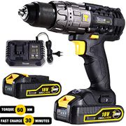*STACK DEAL* Cordless Drill Driver,60Nm Electric Drill 18V, 30min Fast Charger