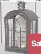 The Satchville Gift Company Brown Metal Lantern - Large