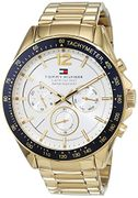 Tommy Hilfiger Mens Quartz Watch, Multi Dial Display and Stainless Steel Strap