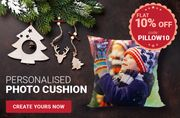 10% off Personalised Pillow