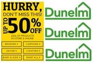 DUNELM SALE - up to 50% Home Decor, Bedding, Curtains, Lighting etc.