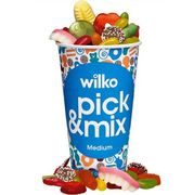 £1 off All Pick and Mix Cups in Store until the 25th of Feb at Wilko