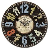 34cm Wall Clocks Shabby Vintage Chic Retro Bedroom Kitchen *Choose Your Design*