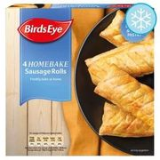 2x Birds Eye 4 Homebake Sausage Rolls