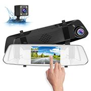 SUAOKI Dash Cam 1080p Full-HD Car DVR with HD Rear-View Camera for Parking