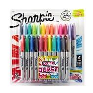 Sharpie Fine Permanent Marker, Colour Burst, Pack of 24