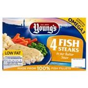 Youngs 4 Fish Steaks in Butter Sauce 4 X 140g - Save £1.75!