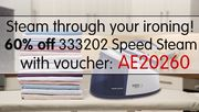 60% off Our Fantastic 333202 Speed Steam Indigo Steam Generator Iron