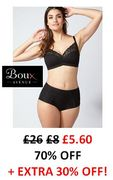 EVEN MORE OFF Lingerie & Nightwear 70% + 30% EXTRA OFF at Boux Avenue