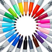 Sharpie Permanent Markers Fine Point Assorted Colours (Pack of 28)