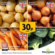 Carrot, Broccoli, Onions, Baby Potatoes Instore