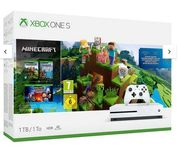Xbox One S Minecraft 1Tb Console Bundle with Optional Extras