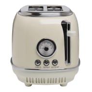 Wilko Cream or Grey Retro 2 Slice Toaster