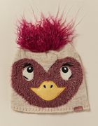 Emu Character Knitted Beanie with Pom