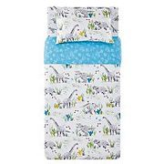 Dinosaur Print Easy Care Reversible Duvet Set - Single