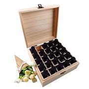 Yunhigh 25 Compartment Aromatherapy Wooden Essential Oil Storage Box