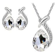 Tears of Angels Diamond Crystal Elegant Women Jewellery Set