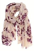 Purple Butterfly Scarf - Free P&P