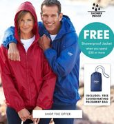 Free Waterpoof Jacket with Order over £30