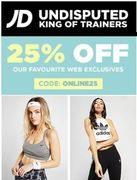 ONLINE ONLY OFFER! 25% off at JD Sports