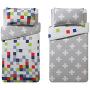 Argos Home Blocks Twin Pack Bedding Set - Toddler CLICK & COLLECT