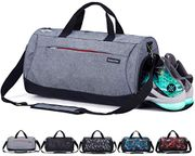 Sports Gym Bag with Shoes Compartment and Wet Pocket,