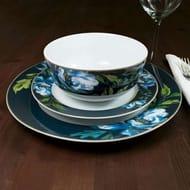 Charm 12 Piece Blue Floral Dinner Set