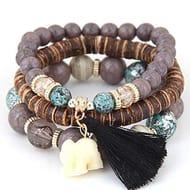 Boho Elephant Charm Bracelets