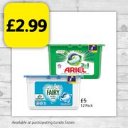 Ariel or Fairy Pods 12 Pack for Only £2.99