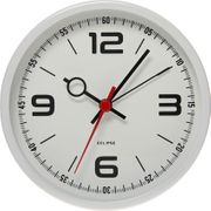 ECLIPSE Small White Mono round Alarm Clock