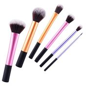 Set of 6 Make up Brushes - Real Technique Dupes