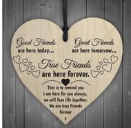 Cute Wooden Heart Friendship Gifts