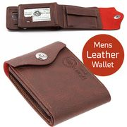 Mens Leather Wallet Brown at Ebigsale Only £4.99