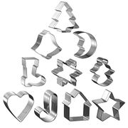 10 Piece Christmas Cookie Cutters