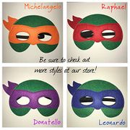 TEENAGE MUTANT NINJA TURTLES Felt Mask Set - X4 MASKS