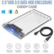2.5 Inch USB 3.0 External SATA III Hard Drive HDD/SSD Enclosure/Caddy Case UK